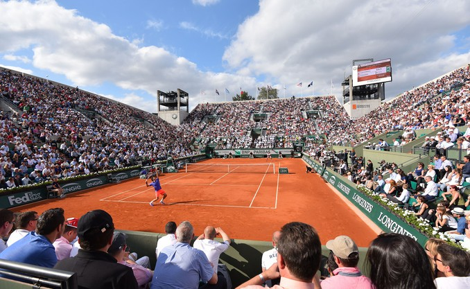 roland garros picture of tennis court